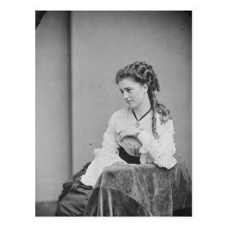 Beatiful Unknown Woman From the Civil-War Era Postcard