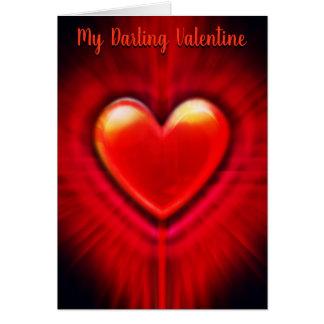Beating Heart stylish custom Valentine's Card
