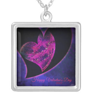 Beating Hearts Silver Plated Necklace