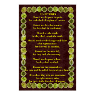 Beatitudes in a Cholla Cactus Frame Poster