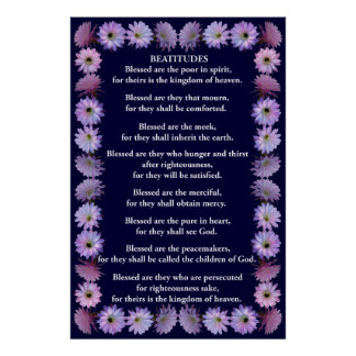 Beatitudes in a Nightblooming Cactus Frame Poster