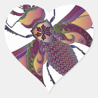 beatle heart sticker