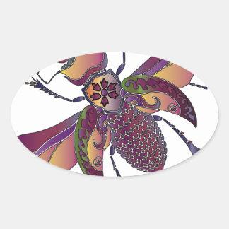 beatle oval sticker