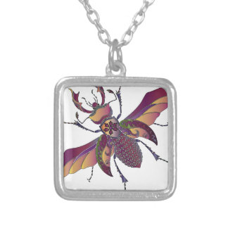 beatle silver plated necklace