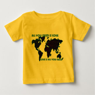 Beatles World All You Need Is Love Baby T-Shirt