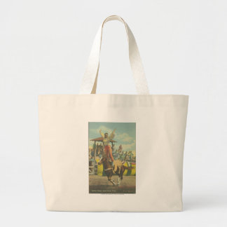 Beatrice Cooper doing a Roman Stand. Large Tote Bag