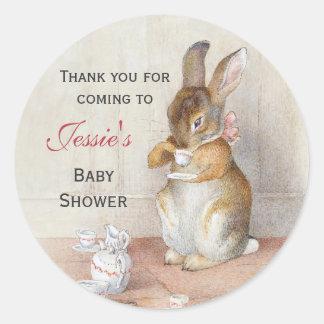Beatrix Potter Custom Baby Shower Stickers