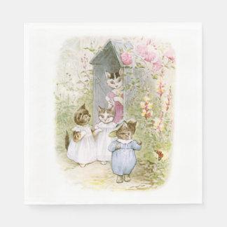 Beatrix Potter, Tom Kitten, Cute, Custom Disposable Serviettes