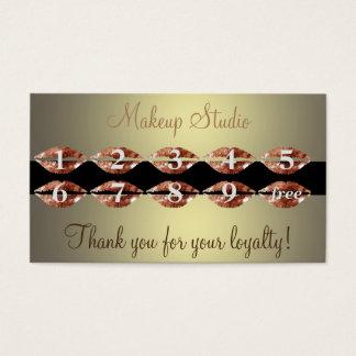 Beaty makeup salon artist loyalty card