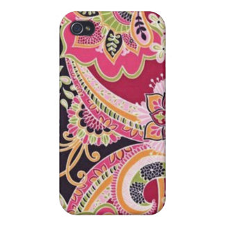 Beau Bold Paisley - Pink Cover For iPhone 4