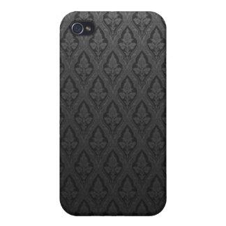 Beau Fleur De Lis - Black Case For The iPhone 4
