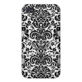 Beau Fleur De Lis - Black Case For iPhone 4