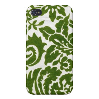 Beau Fleur - Green Cases For iPhone 4