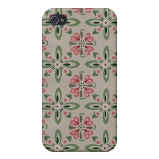 Beau Flowers - Pink Green iPhone Cover iPhone 4 Cases