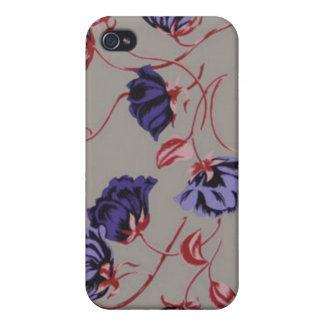 Beau Flowers Purple Red iPhone Cover iPhone 4/4S Cover