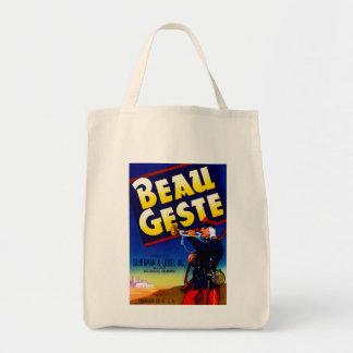 Beau Geste Label Grocery Tote Bag