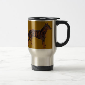 Beauceron Dog Art Travel Mug