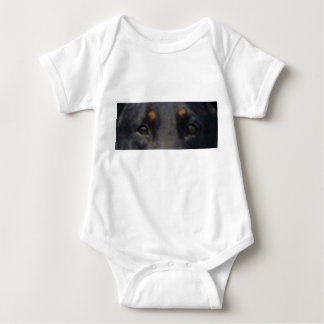 Beauceron eyes baby bodysuit