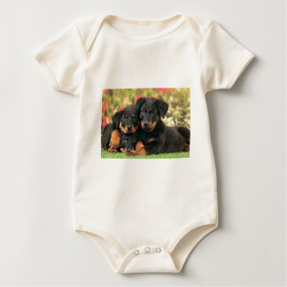 Beauceron Puppies Best Buds Baby Bodysuit
