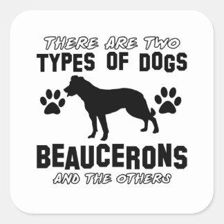 Beaucerons designs square sticker