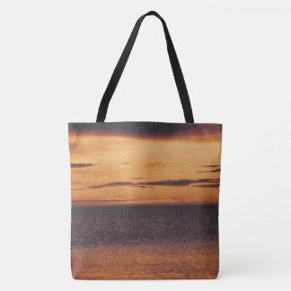 Beaufort Sea Arctic Coast Oliktok Ocean Sunset Tote Bag