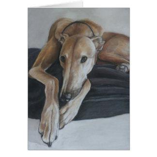 Beauregard Greyhound Dog Art Greeting Card