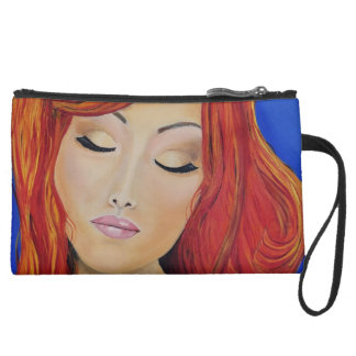 Beaute Rouge Fine Art Print Makeup Bag Clutch