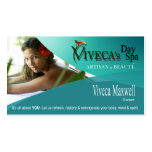 Beauté Salon Day Spa Massage Therapy Aromatherapy Business Card Template