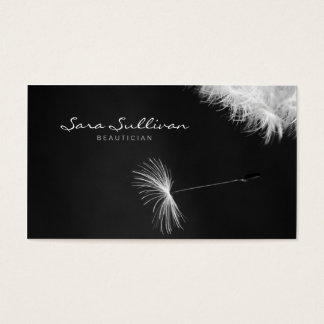 Beautician Business Card Dandelion Closeup
