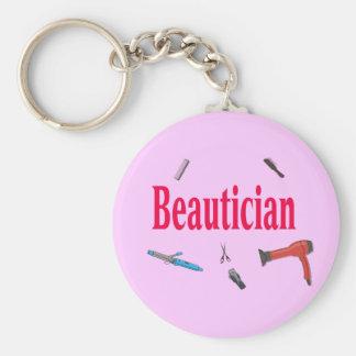 Beautician Business Keychain