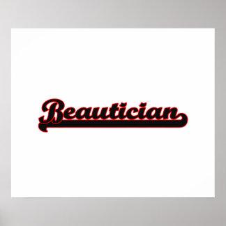 Beautician Classic Job Design Poster