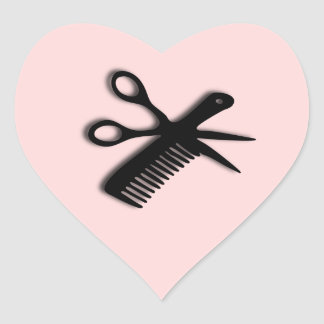Beautician Design Pink Heart Sticker
