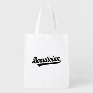 Beautician Reusable Grocery Bag