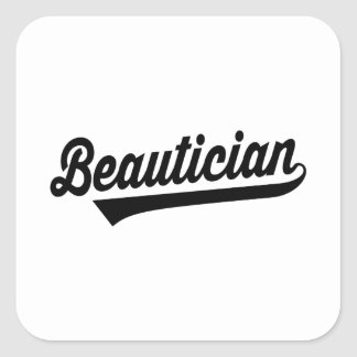 Beautician Square Sticker