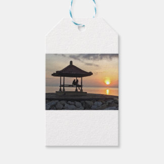 Beautidul sunrise in Bali Gift Tags