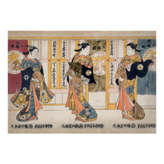 Beauties of the three capitals triptych poster