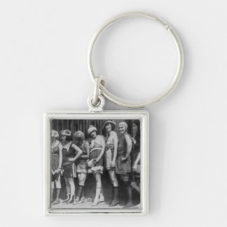 Beauties Silver-Colored Square Key Ring