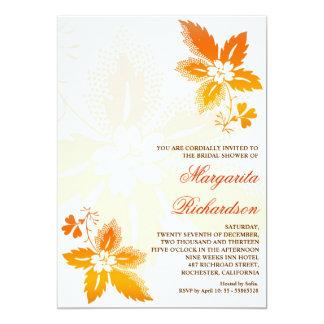beautifu autumn leaves bridal shower invitations