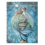 Beautifu Mermaid and Moon Notebook