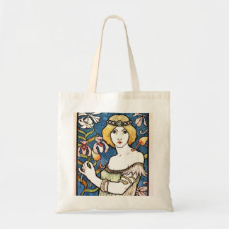 Beautiful 1896 Art Nouveau Design Budget Tote Budget Tote Bag