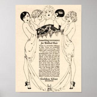 Beautiful 1920's Shampoo Ad Poster