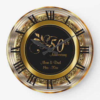 Beautiful 50th Golden Anniversary Wall Clock