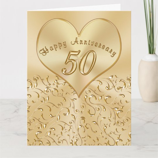 beautiful 50th wedding anniversary cards 3 sizes card