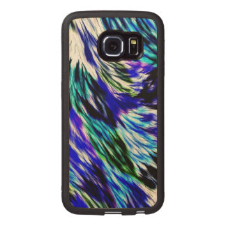 Beautiful Abstract Blue Green White Purple Pattern Wood Phone Case