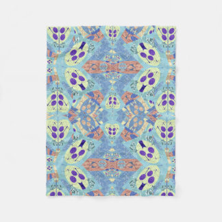 Beautiful Abstract Blue Pattern Quilt Blanket
