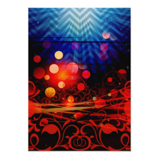 Beautiful Abstract Chevron Light Rays Design 13 Cm X 18 Cm Invitation Card