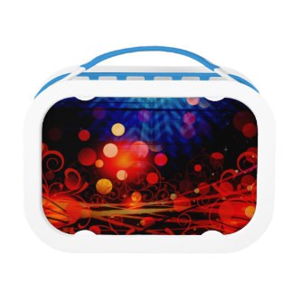 Beautiful Abstract Chevron Light Rays Design Lunchboxes