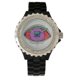 Beautiful Abstract Colorful Eye Design Watch