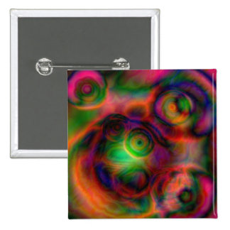 Beautiful abstract design 15 cm square badge