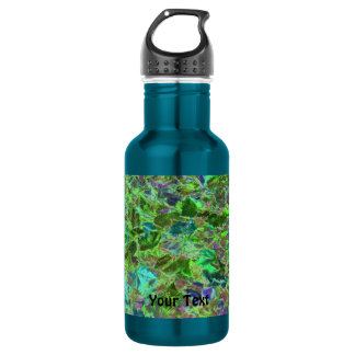 Beautiful Abstract Green Leaves Foliage 532 Ml Water Bottle